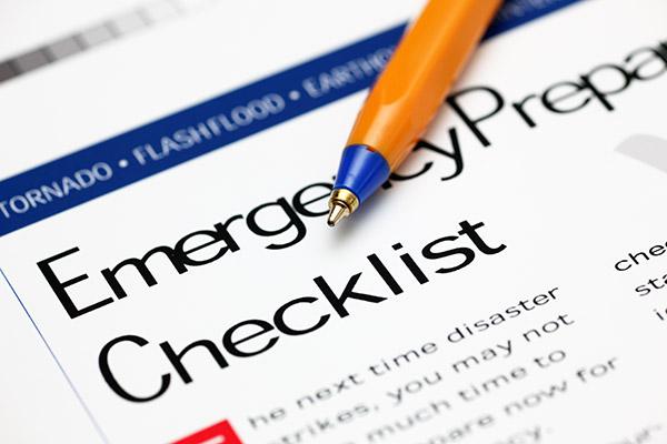 Emergency Prepare Checkllist