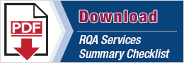 RQA Services Summary Checklist