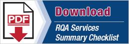 RQA Services Summary Checklist